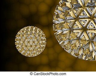 Viruses , detailed 3d illustration