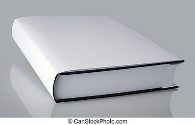 White plain book