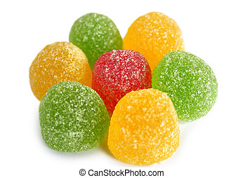 Candy jujube on a white background.