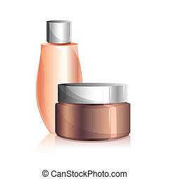 Beauty Lotion - illustration of beauty lotion and creame on...