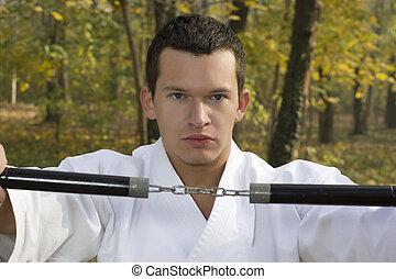 nunchaku, karate