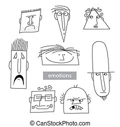 Emotion-vector-set - Set - the emotions of different people....