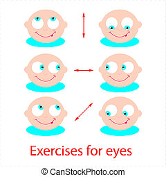 exercises-for-eyes - Set of exercises for the eyes. Good...