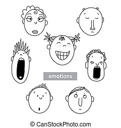 Emotion-people-vector-set - Set - the emotions of different...