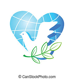 love-dove-peace - Peace on Earth - the traditional symbols -...