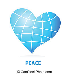 peace-love - Sign of love for the world - the planet is the...