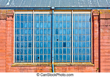 detail of old classic train station in wiesbaden - detail of...