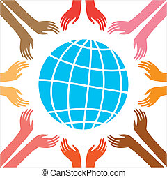 peace - Peace for all people. Vector Illustration. The idea...