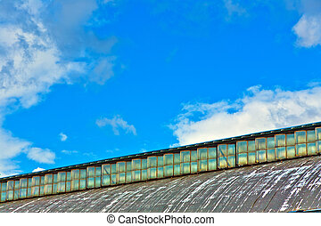 detail of old classicistical train station in wiesbaden -...