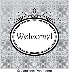 Welcome - Vintage frame Classic style Seamless pattern...