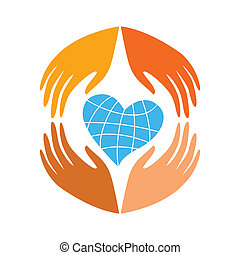 take-care-peace - Symbol of concern for the world - the...
