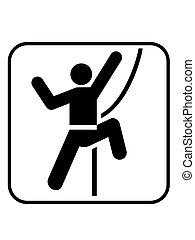 climbing sign