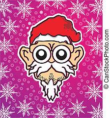 snowflakes santa head vector