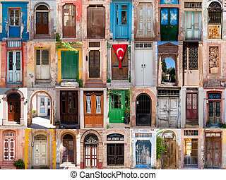 Old doors of Turkey city