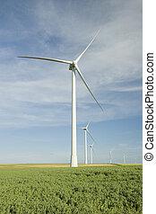 Wind Turbines at the Field