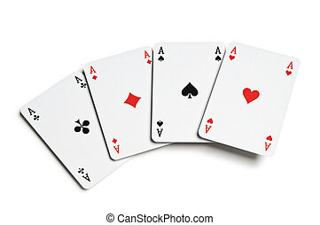 Aces - Poker aces on white background close up
