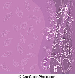 Abstract flower background - Symbolical flowers and leaves,...