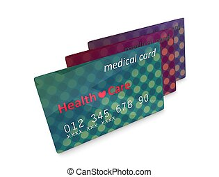 Medical card - 3d rendering, artist illustration medical...