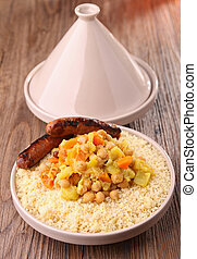 couscous - tajine with couscous