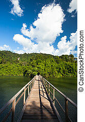 Bridge to the jungle, Chantaburi eastern of Thailand