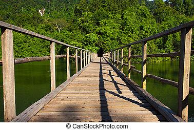 Bridge to the jungle, Chantaburi eastern of Thailand
