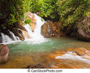 Deep forest Waterfall in Chantaburi, eastern of Thailand