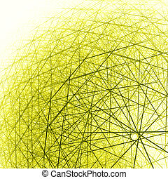 3d spherical structure yellow
