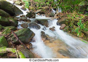 Deep forest Waterfall in Chantaburi, eastern of Thailand