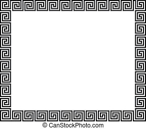 Background with greek ornament - vector illustration