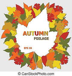 Autumn Leaves Illustration - Autumn Foilage Illustration