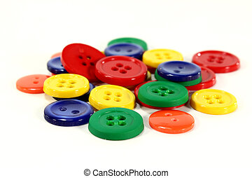 buttons - lots of colorful buttons on a white Hinterrgund