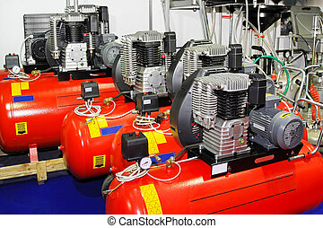 Air compressors - Red air compressors for garage work shop