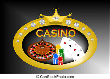 Casino banner - Vector illustration of casino banner with...