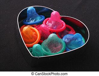 Condones, multicolor