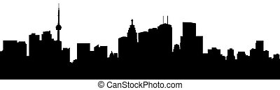 Toronto Skyline Silhouette - A skyline silhouette of the...