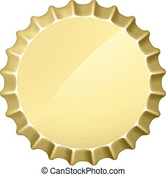 Bottle cap. Illustration on white background for design