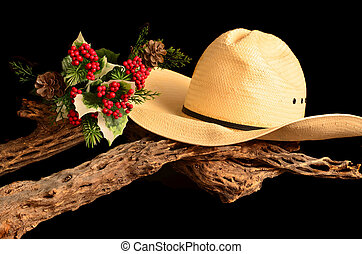 A Cowboy Christmas - An American style representation of a...