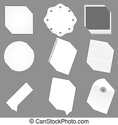 Vector empty paper set with place for your text.