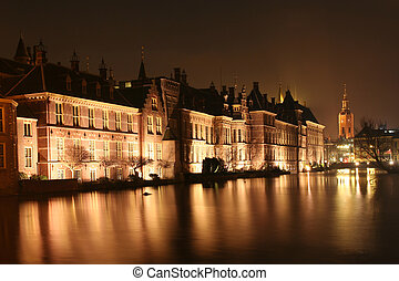 The Hague at Night - Dutch Parliament, Binnenhof, at night