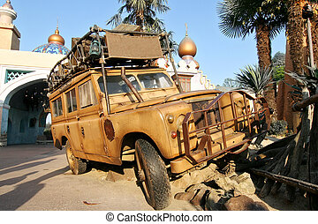 Landrover in a theme park