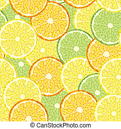Citrus seamless background - Seamless background with slices...