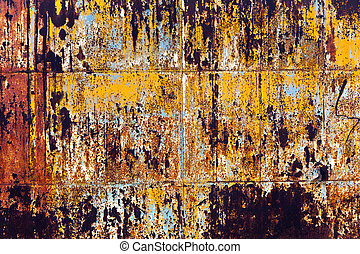 rusty grunge metal background of an old watertank