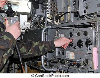 military radio - Military Soviet army radio receiver...