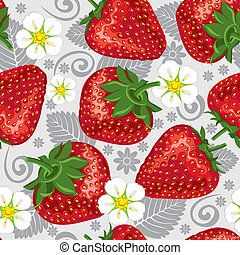 Excellent seamless pattern with strawberry - Excellent...