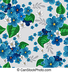 seamless pattern with forget-me-not - Beautiful seamless...
