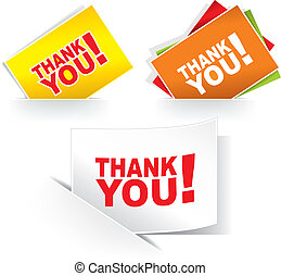 Grateful cards - Thank you - grateful cards Vector...