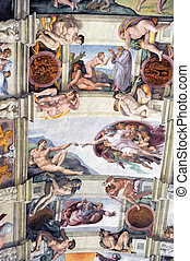 sistine chapel - ceiling of the sistine chapel in the...