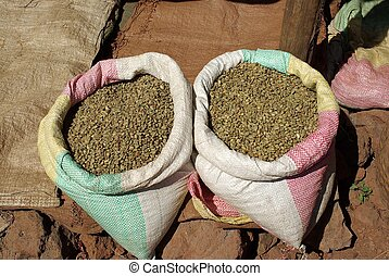 Coffee beans, Ethiopia - Coffee beans on a market of Addis...