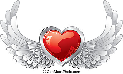 heart with wings, wonderful vector elements for design to...