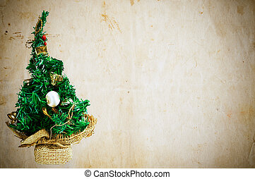 Empty Christmas greeting card - Christmas tree against...